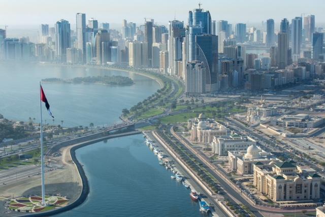 Flag Island in Sharjah Emirate. Shurooq development.